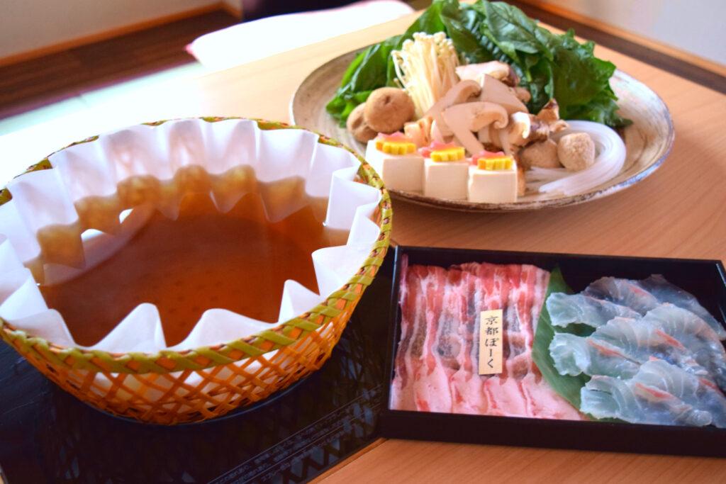 瓢喜,紅葉鯛,京都ぽーく,松茸,秋鍋