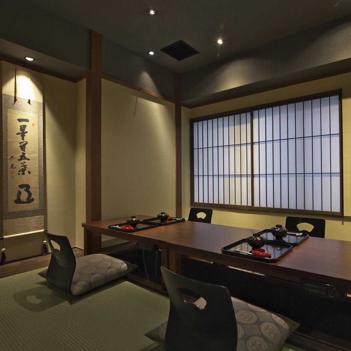 個室の優雅な空間とおもてなし