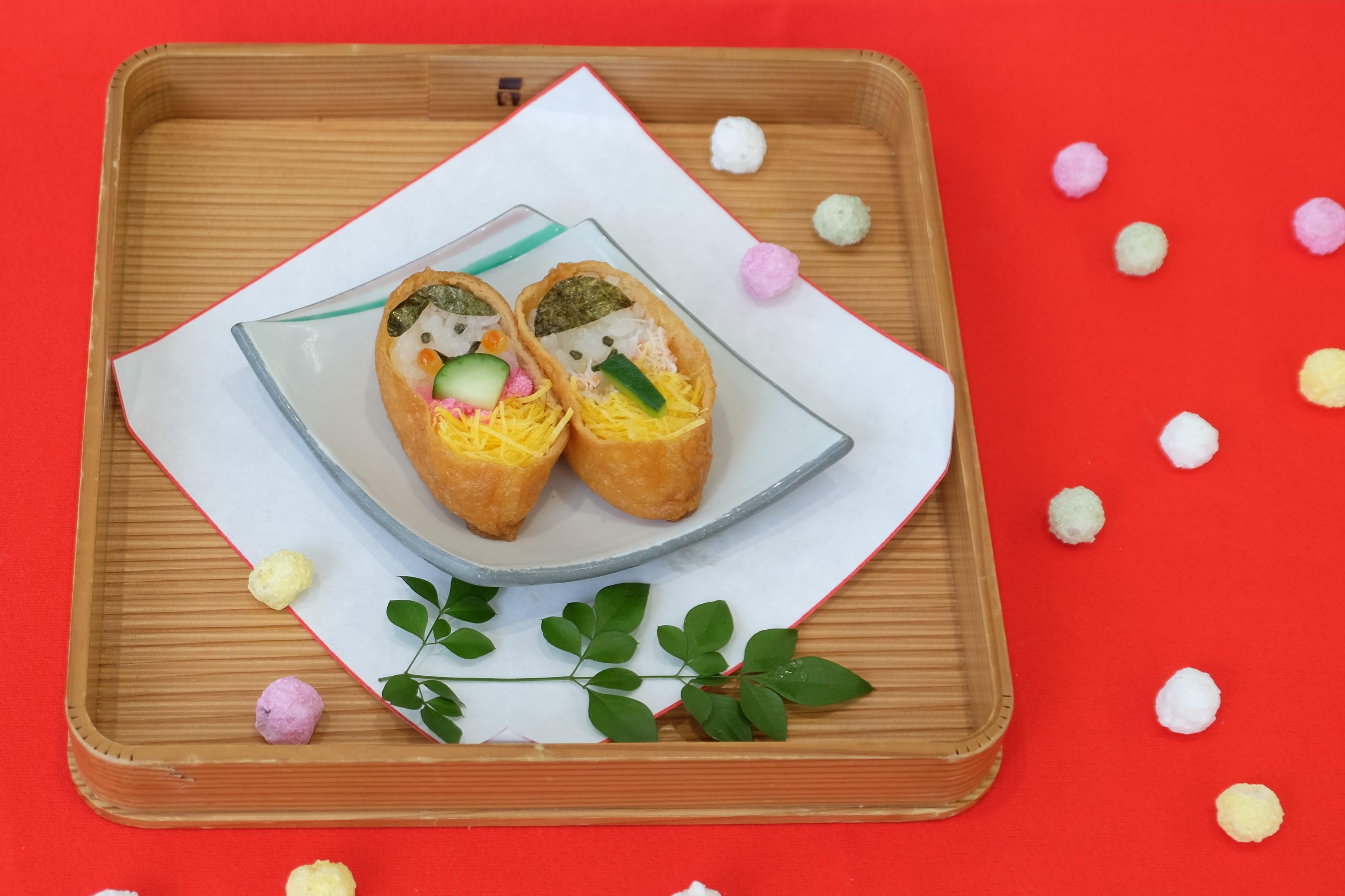 瓢喜,ひな祭り,お雛様,稲荷寿司,お稲荷さん